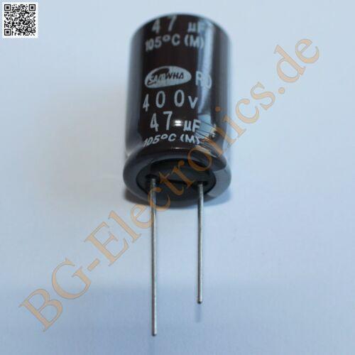 5 x 47µF 47uF 400V 105° RM7.5 Elko Kondensator Capacitor Ra Samwha E-Cap 5pcs
