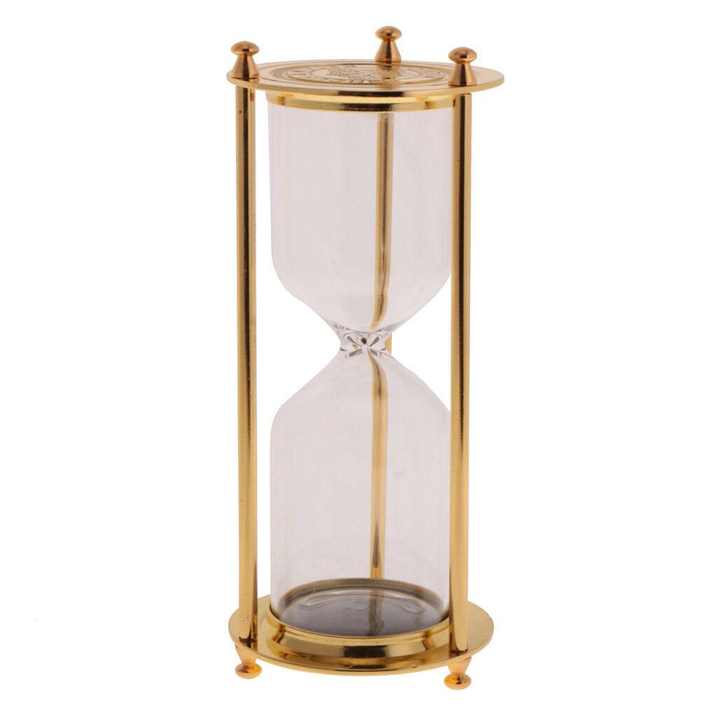 Rétro Cadre métallique vide Hourglass Sablier sable Minuterie Home Decor-Or