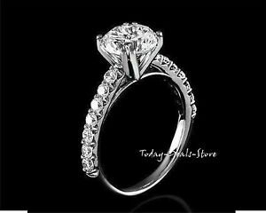 Engagement-Ring-2-40-CT-Round-Cut-Solid-14k-White-Real-Gold-Anniversary-Wedding