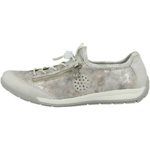 Rieker Schuhe Women Damen Ballerinas Halbschuh Antistress Freizeit Slipper 41399
