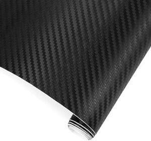 Black-3D-Carbon-Fibre-Vinyl-Car-Wrap-Film-Sticker-Air-Bubble-Free