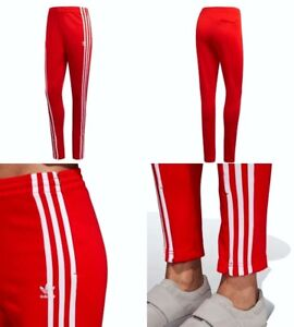 Details about ADIDAS ORIGINALS TRACK PANTS RED WOMENS SIZE XS DH2716
