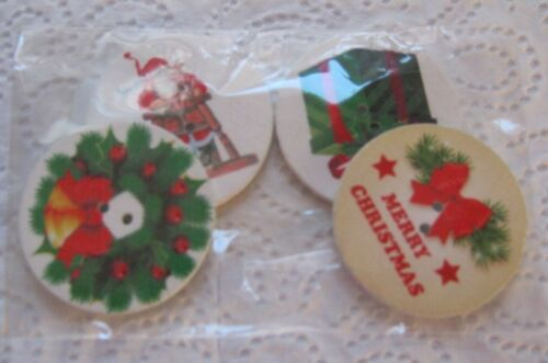 Wooden Buttons LARGE ASST/'D DESIGN!! **NEW** XMAS THEME!
