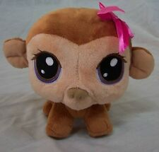 Hasbro Littlest Pet Shop LITTLE GIRL MONKEY BOBBLEHEAD Plush STUFFED ANIMAL Toy