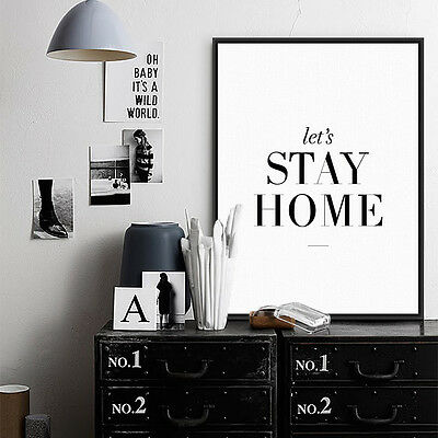 Modern Black Quotes A4 Posters Prints Nordic Home Decor Wall Art Canvas Painting