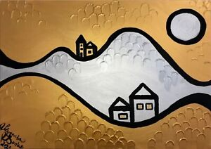 Margarita-Bonke-Leinwand-70-cm-Canvas-PAINTING-abstract-abstrakt-landscape-gold