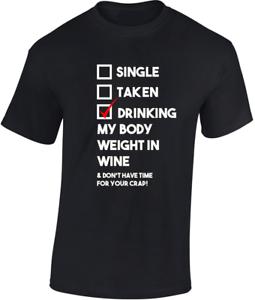 Bebida-MY-BODY-PESO-EN-COLOR-VINO-Camiseta-Regalo-Divertido-Individual-Taken