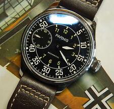 PARNIS B-UHR:Pilot:Aviator:50mm:Seagull 6497:Exh.back:Fliegeruhr:Luftwaffe:WW2