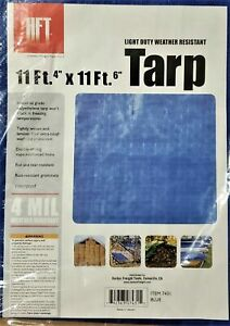 TARP HFT  11'4'' X 11'6'' BLUE ALL PURPOSE WEATHER RESISTANT REINFORCED SEALED Q