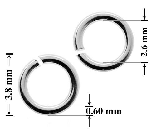 Many sizes Sterling Silver 925 Open Jump Rings Jewellery making findings