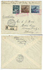 LIECHTENSTEIN 1930 REGISTERED AIRMAIL FIRST FLIGHT VADUZ - ST GALLEN