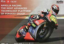 ALVARO BAUTISTA UN SIGNED APRILIA 2016 POSTER MOTOGP VERY RARE.