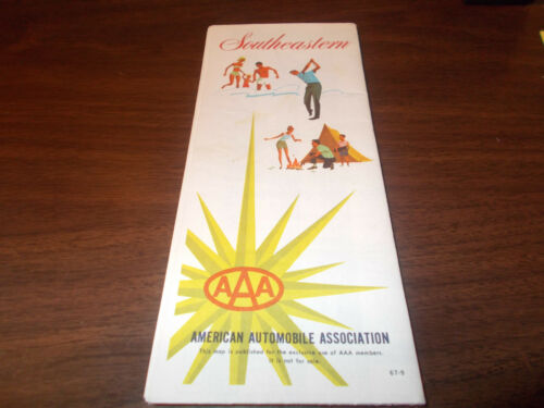 1967 AAA Southeastern Vintage Road Map