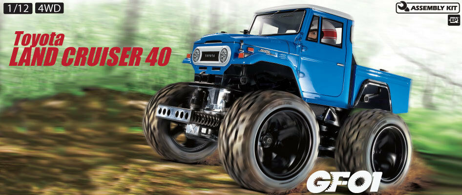 Tamiya 58589 Toyota Land Cruiser 40 RC Kit - DEAL BUNDLE with STEERWHEEL Radio