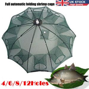 12-Holes-Magic-Foldable-Automatic-Fishing-Nylon-Shrimp-Cage-Crawfish-Trap-Cast