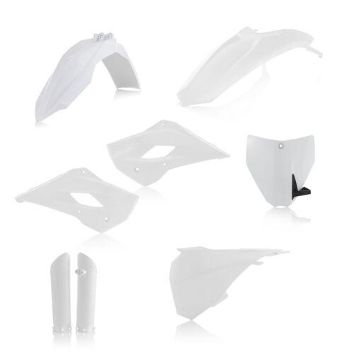 Nuevo Kit Completo Acerbis plastic husqvarna TC 85 14 15 16 17 Blanco plásticos TC85
