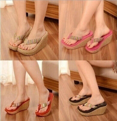 Women Summer Slippers Non Slip Thick Platform Sandals Metal Slip on Shoes Casual Beach Shoes for Women /& Girls