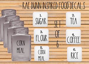 Rae Dunn Inspired Food Decals