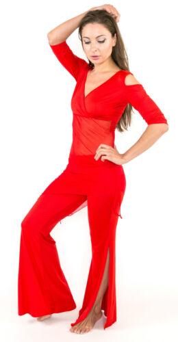 Belly Dance Top /& Harem Pants Hip Scarf Costume Yoga Pilates Exercise Workout UK