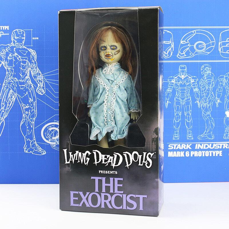 Der exorzist film statue spielzeug actionfigur modell lebenden toten puppen präsentiert