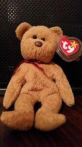 Ty Curly Beanie Baby mwmt- errors-1996 Beautiful   Rare brown nose ... ca4f7b749fc