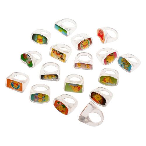 20Pcs Wholesale Mixed Lots Cute Cartoon Children//Kids Resin Rings Jewelry Hot