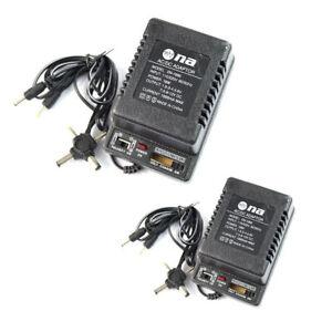 Details about 1 Pair 12 Volt Universal Power Supply 1 Amp AC DC 1 5v 3v  4 5v 6v 7 5v 9v 12v