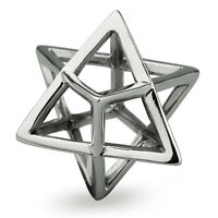 Sterling Silver Merkaba Chakra 6 Ohm Bead Charm Aay011