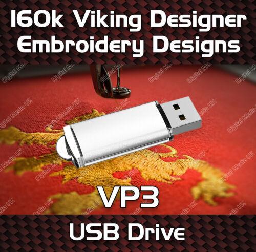 160,000 Viking Designer Embroidery Pattern Design des fichiers VP3 sur clé USB