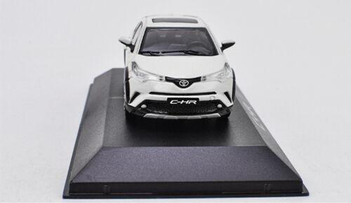 1//43 Toyota CHR C-HR White Diecast Car model Collection Toy