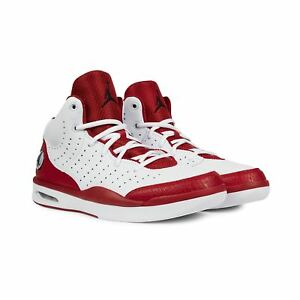 88d27a78f826f2 Nike Men s Jordan Flight Tradition NEW AUTHENTIC White Gym Red ...