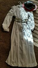 Princess Leia Disney Licensed Costume Dress w/ Wig NEW child's size 11/12