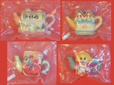 VINTAGE RARE Red Rose Tea (Canada) Miniature Teapot 1997 - 16 Piece Lot in BAGS