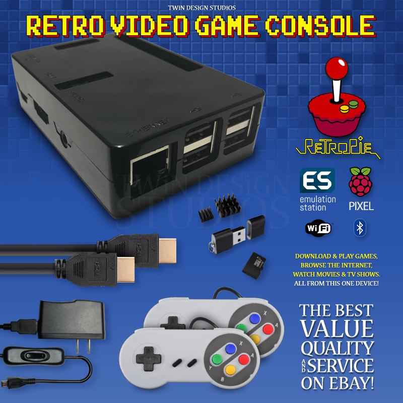 1 Raspberry Pi 3 Retro Video Game Console – RetroPie PixelPC
