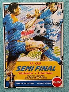 1988-FA-CUP-SEMI-FINAL-PROGRAMME-WIMBLEDON-v-LUTON-TOWN-V-G-CONDITION
