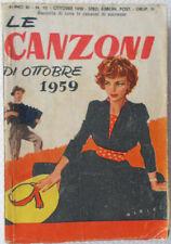 Le CANZONI di OTTOBRE 1959/10 Messaggerie Musicali-design Albert-Testi