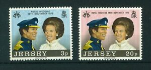 GB-Jersey-1973-Royal-Wedding-full-set-of-stamps-Mint-Sg-97-98