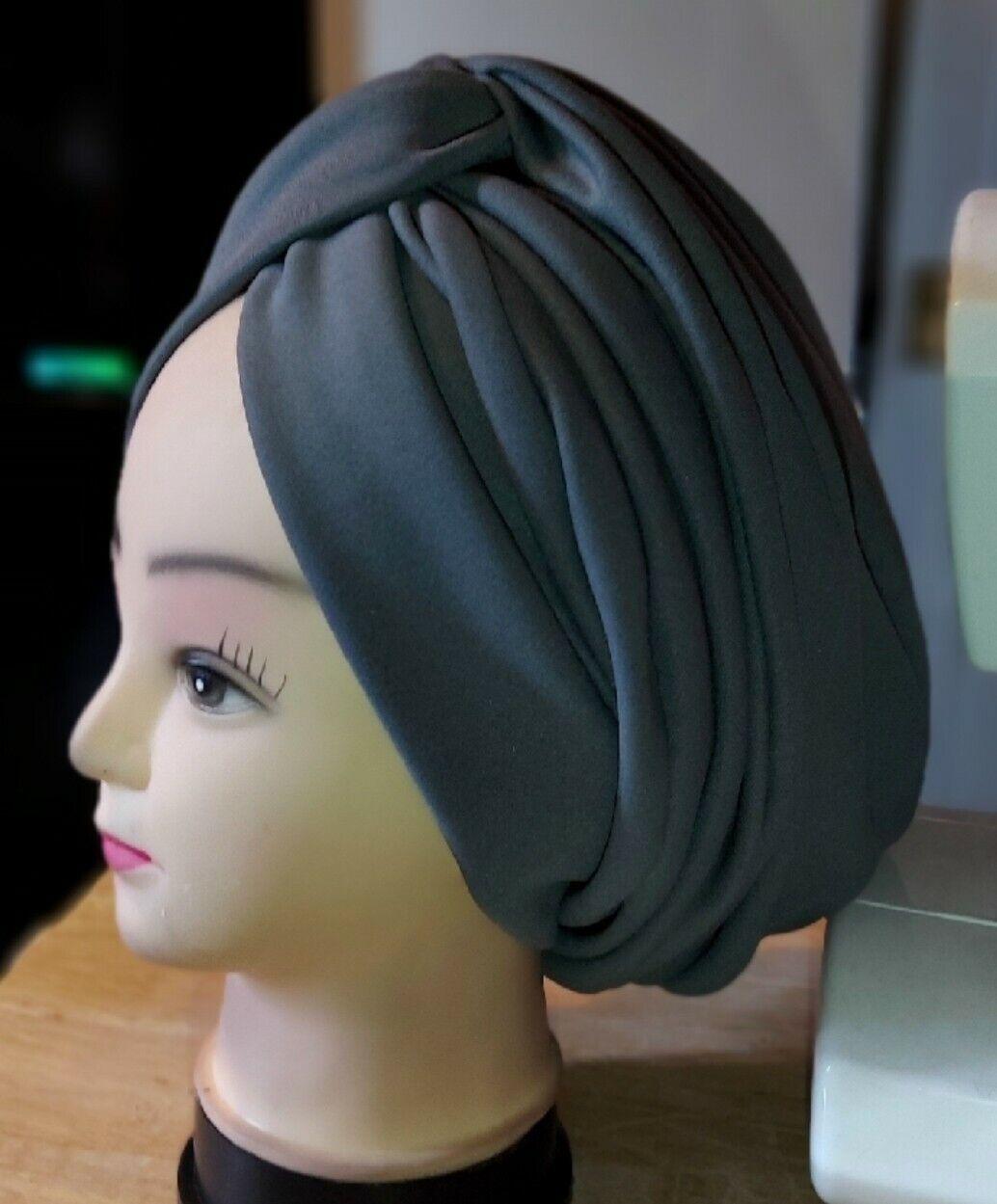 Nigeria African Women Elegant Turban cap auto gele (full pleated turban)