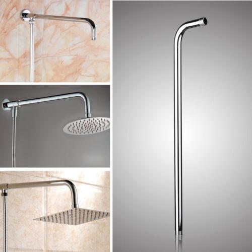 24/'/' 60cm Stainless Steel Shower Head Wall Arm Mounted Tube Rainfall F// Bathroom