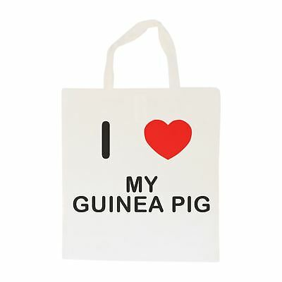 I Love My Guinea Pig - Cotton Bag | Size choice Tote, Shopper or Sling