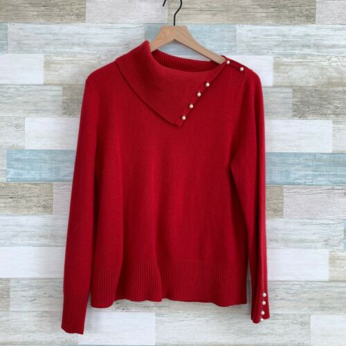 Mainbocher Pure Cashmere Split Turtleneck Sweater