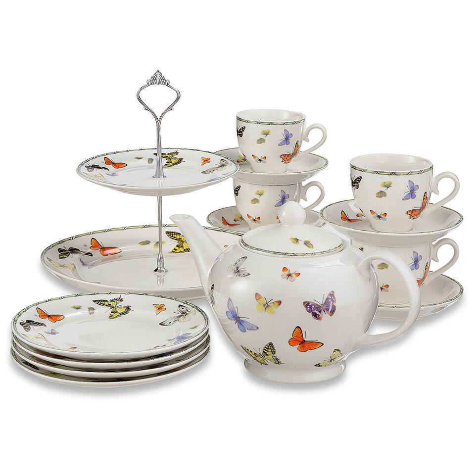 Service à thé  papillon  high tea de Janneke Brinkman 10 pces