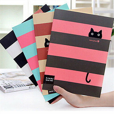 Large Paper Cat Diary Notebook Notepad Stationery Writing Memo Journal Book
