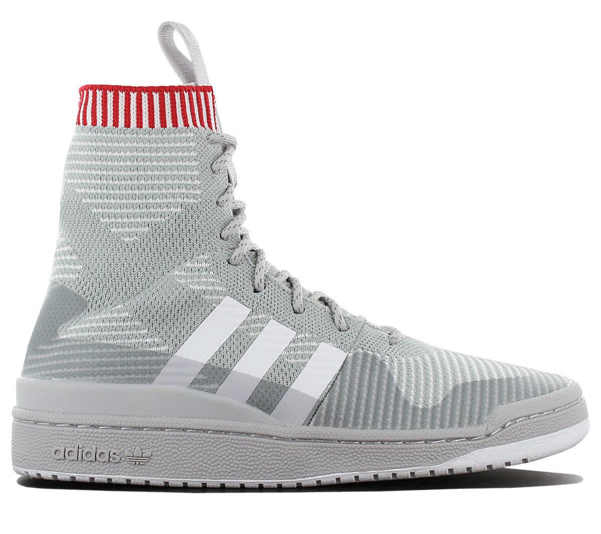 Adidas Originals Forum High PK PRIMEKNIT Schuhe Turnschuhe Stiefel Grau BZ0646 NEU