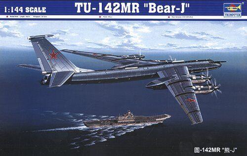 Tu-142 MR Bear-j Aircraft 1 1 1 144 Plastic Model Kit TRUMPETER 54acb9