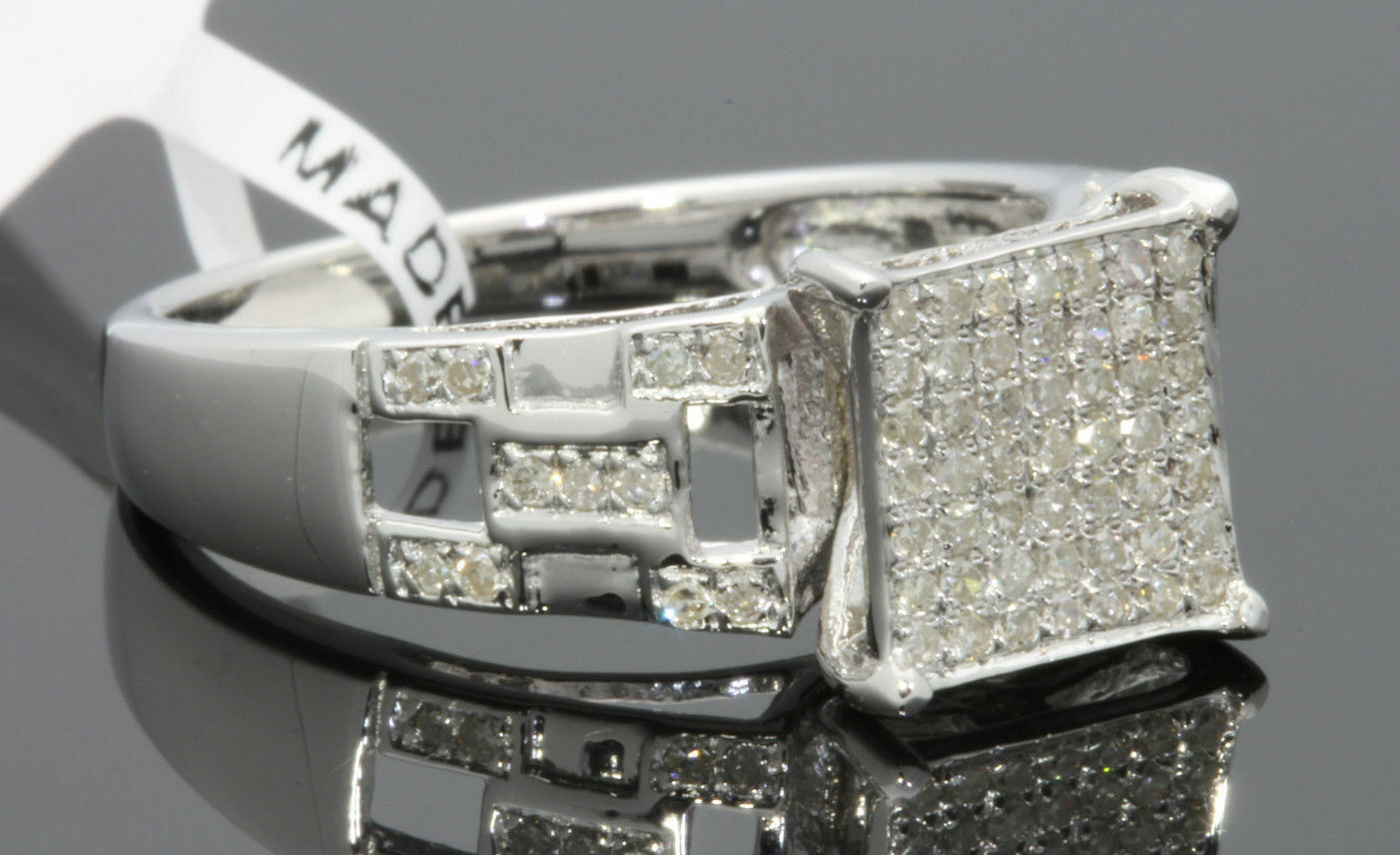 .34 CARAT WOMENS LADIES WHITE gold FINISH DIAMOND ENGAGEMENT BRIDAL WEDDING RING
