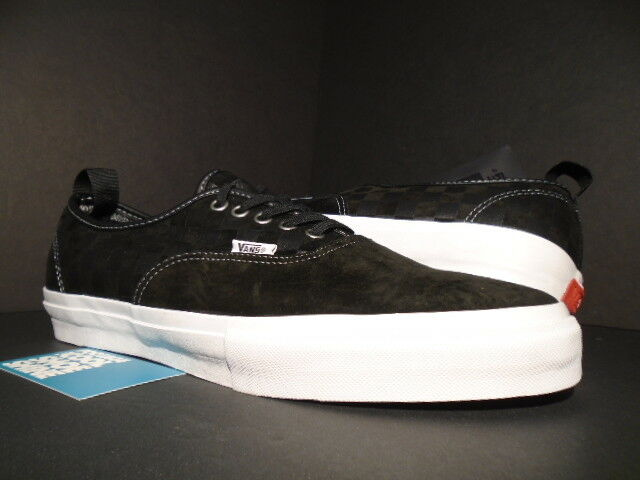 VANS AUTHENTIC 69 PRO S BLACK WHITE RED PULL TAB CHECKERBOARD VN-0SDMBA2 12