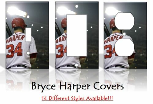Bryce Harper Washington Nationals MLB Light Switch Covers Home Decor Outlet