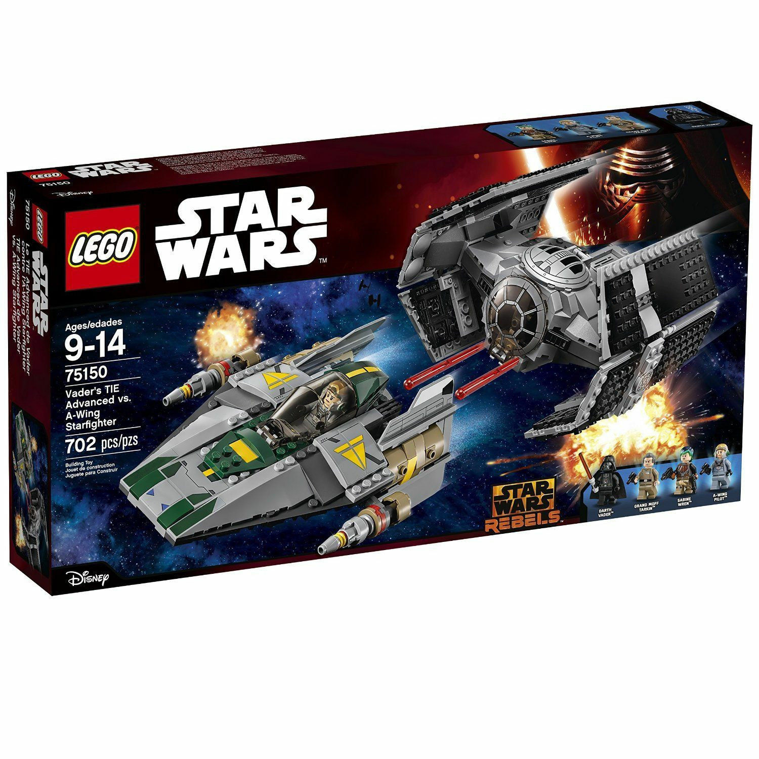 LEGO STAR WARS 75150 DARTH VADERS TIE VADER vs A-WING BRAND NEW