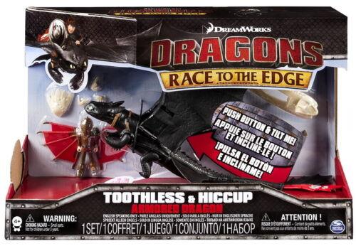 DreamWorks Dragons Die Drachenreiter Figuren Set Drago Toothless Armored Dragon